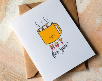 Hot Cocoa Pun Greeting Card with Kraft Envelope | 4.25 x 5.5