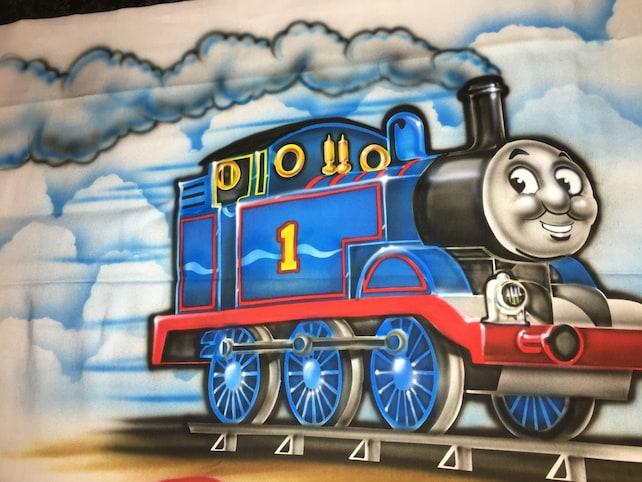 Thomas The Train Pillowcase Classy AIRBRUSH Pillowcase Thomas Train Pillowcase Thomas Tank Engine Etsy