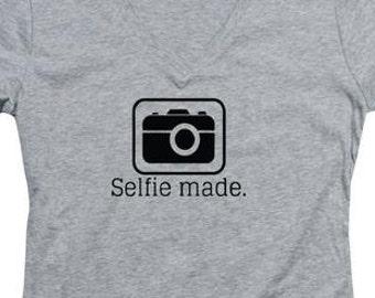 Women's Tee Shirt Selfie Made