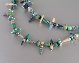 Extravagance Relic necklace in polymer clay