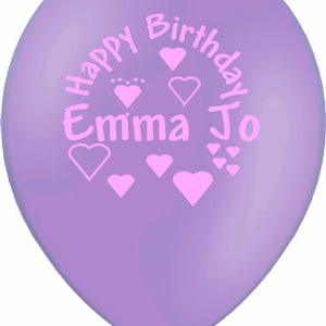 Birthdays etc Christenings Anniversary with Flowers personalisedpersonalized printed balloons for Births