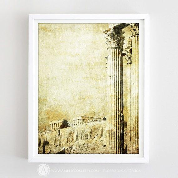 Greek Art Print Antique Greece Wall Decor Greek Column