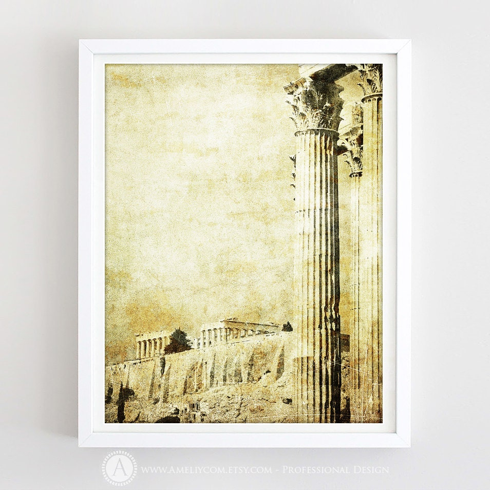 Greek Art Print Antique Greece Wall Decor Greek Column   Etsy