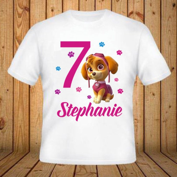 Paw Patrol Skye Birthday Shirt Add Any Name And Age Kids