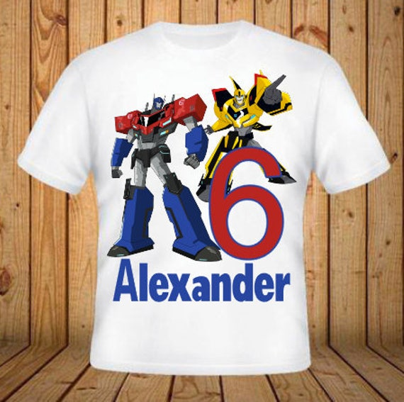 Transformers Birthday Shirt Kids Shirts