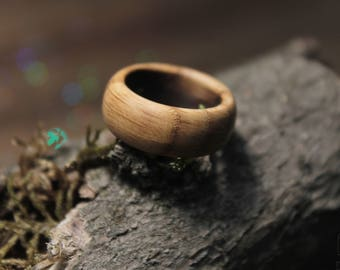 Mens wood ring, Wood wedding band, Bentwood ring, Wooden ring, Husband gift, Mens wooden ring, Wood ring for men, Fathers Day gift,Wood band