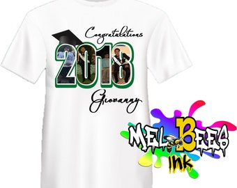 74ccb63fba Personalized with your our picture/Photo T-shirt Custom Graduation T-Shirt,  Senior Class,Family Graduation Shirts (Free Shipping in the USA)
