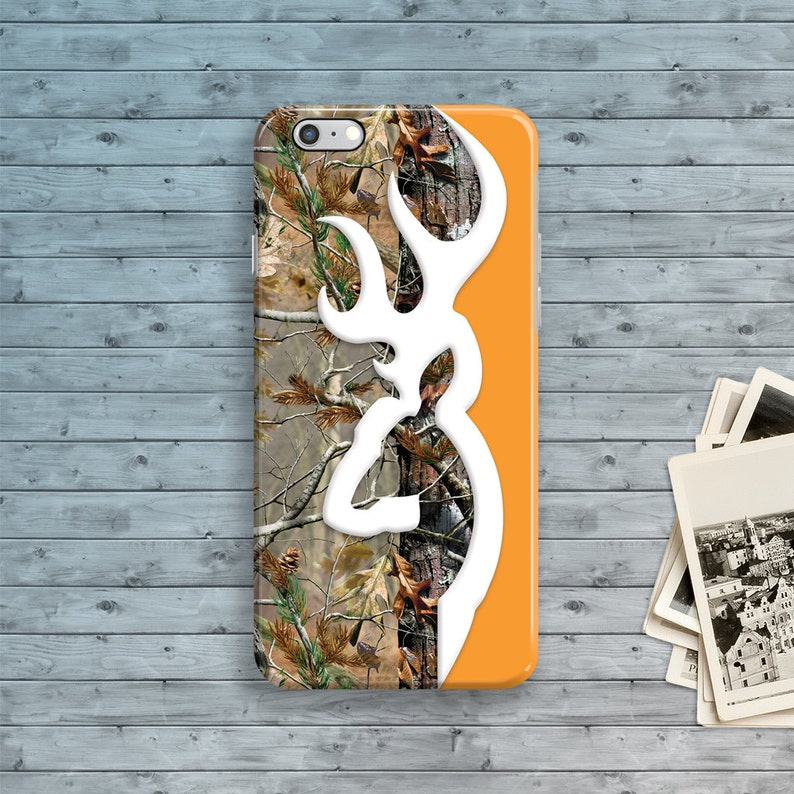 separation shoes 98269 673b2 iPhone 7 Case, Deer Head Camo iPhone 7 Plus Case, Orange iPhone 6S case,  iPhone 6 Plus, iPhone 6S Plus, 4 4S 5 5S 5C SE Hunter Country