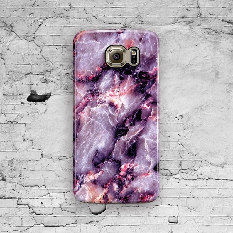 premium selection 6f742 9f3be Purple Marble Samsung Galaxy S7 Case, Galaxy S6 Case, Pink Marble Galaxy S7  Edge, Galaxy S6 Edge Plus, S3 S4 S5 Note 7 3 4 5 Cool Granite