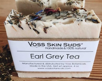 Earl Grey Tea Soap | Spa Quality | Handmade | Mango Butter | Jojoba Oil | Cold Process Soap | Vegan | Gift for Her | Stocking Stuffer | Gift