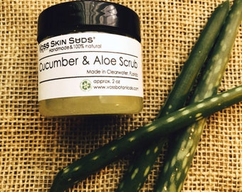 Body Sugar Scrub | Aloe Cucumber Scrub | Vegan | Exfoliating | Skin Brightening | Gift | Skin Care | Aloe | Burn Relief | Sunburn Aid
