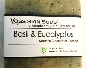 Acne Soap | Acne Treatment | Eucalyptus | Herbal Vegan Soap | Eczema | Cold Process Soap | Pimple Treatment | Skin Care Gift | Herbal | Gift