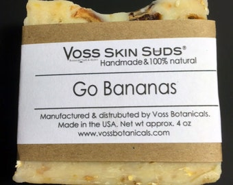 Vegan Fruity Banana Soap | Sensitive Skin | Gift for her | Gifts for him | Vegan Gift | Skin Brightener | Handmade | Kids Fun Soap | Holiday
