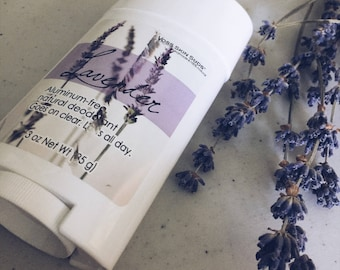 Aluminum-free deodorant | Lavender | Stick deodorant | Natural Skin Care | Deodorant that Works | Non Toxic | Goes on Clear | Lasts All Day