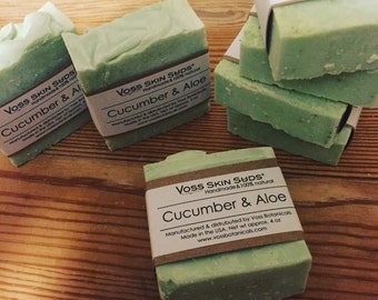 Cucumber Soap | Cucumber Aloe Soap | Palm Free Soap | Calms Skin | Gift for Her | Gift for Him | Natural Handmade Soap | Non SLS | Vegan