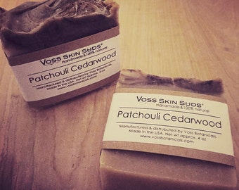 Patchouli Soap | Cedarwood | Extreme Moisturizing | Natural Cold Process Soap | Cinnamon | Handmade Hippie Soap | Vegan | Gift for Him