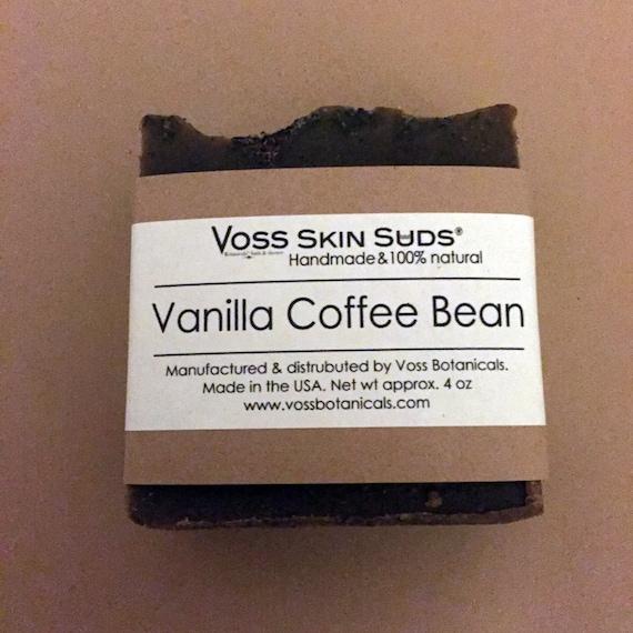 Coffee Soap   Vanilla Coffee Bean Soap   Natural   Handmade Soap   Cold Process Soap   Vegan   Exfoliating   Scrub Soap   Coffee Lover Soap