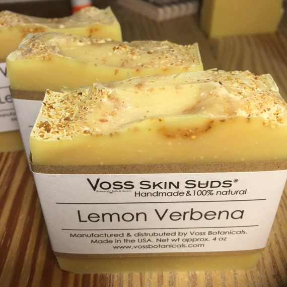 Lemon Verbena Soap | Lemon Citrus Soap | Sunflower Oil Soap | Cold Process Soap | Organic Lemon Verbena Leaf Tea | Lemongrass | Citrus Zest