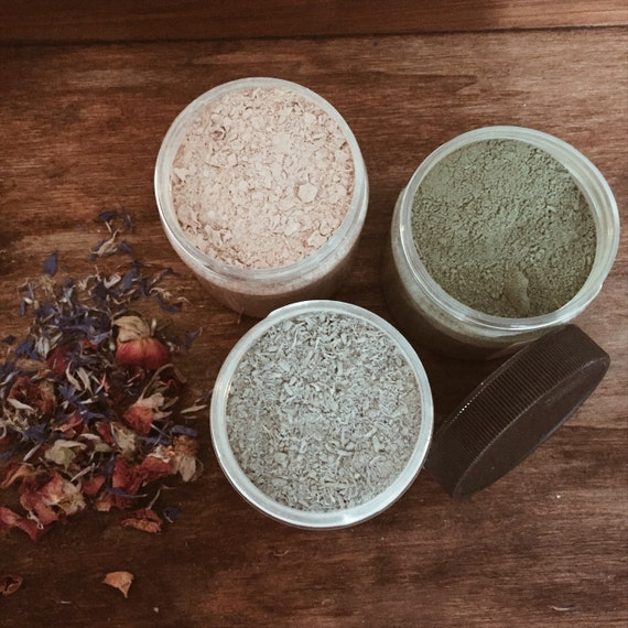 Clay Mask | Detox Facial Masks | Acne Facial Mask | Fresh Facial Masque | Facial | Skin Care | Herbal Mask | Flower Mask | Natural Facial