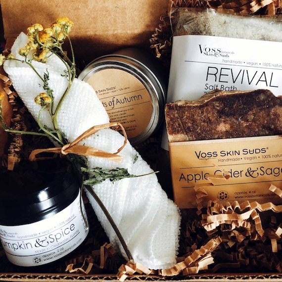 Fall Spa Gift Set Collection  All-Natural Vegan  Autumn