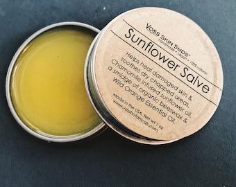 Sunflower Salve   Dry Skin Salve   Heals Damaged Skin   Chapped Skin Salve   Vegan   Wild Orange   Cuticle Oil   Gift for Her   Winter Aid