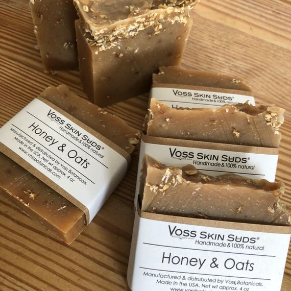 Honey and Oats Soap | Exfoliating| Cold Process | Scrub Soap | Natural | Gift for Her | Gift for Him | Oatmeal Soap | Relieves Itchiness