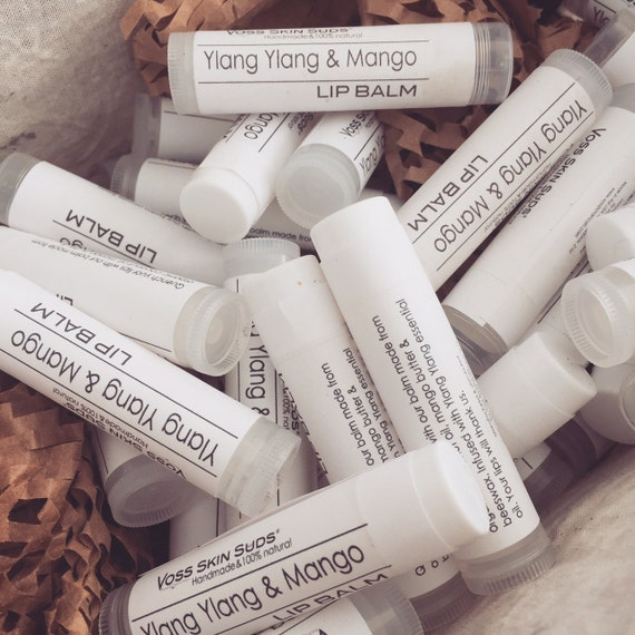 Lip balm | Wedding favor | Vegan lip care | Mango butter & Ylang Ylang Lip Balm | Gift for Her | Gift for Him | Holiday idea | Party favor