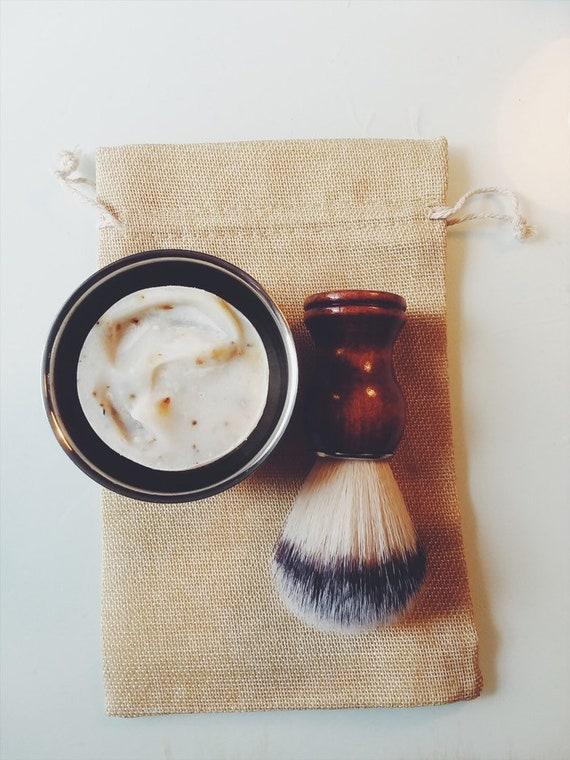 Shave Kit | Vegan Shave Bar | Natural Bristle Shaving Brush | Stainless Steel Shaving bowl | Groomsmen Gift | Gift for Him | Gift for Her