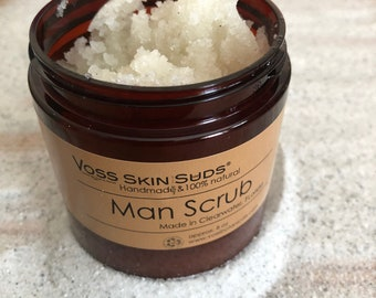 Sugar Scrub   Body Scrub   Cypress   Pine   Balsam Fir   White Fir   Frankincense   Exfoliating   Vegan Scrub   Man Gift   Fathers Day Gift