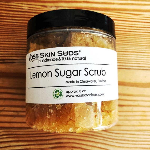 Lemon Sugar Scrub | Body Scrub | Citrus Sugar Scrub | Exfoliating | Skin Brightening | Gift | Skin Care | Cellulite Scrub | Sugar Scrub