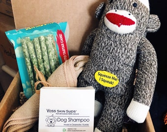 Dog Care Package | Puppy Toy Box | Puppy Gifts | Doggie Gift | Natural Dog Shampoo | Puppy Care Box | Soothing Pet | Pet Gift | Dog Items
