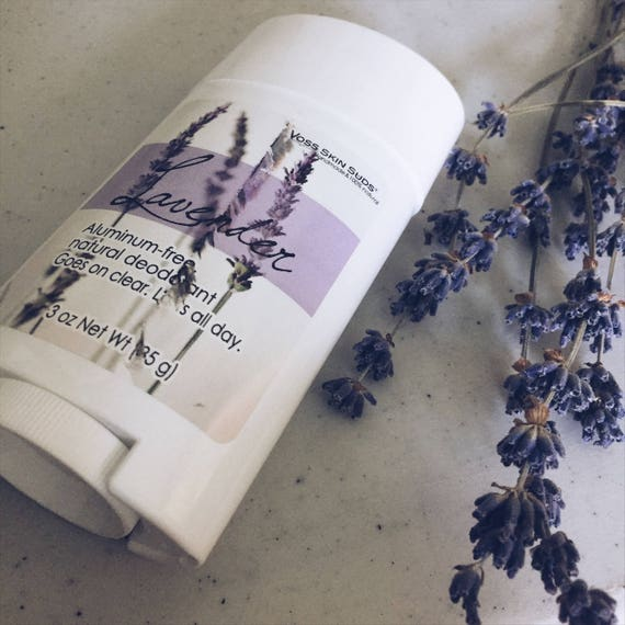 Aluminum-free deodorant   Lavender   Stick deodorant   Natural Skin Care   Deodorant that Works   Non Toxic   Goes on Clear   Lasts All Day