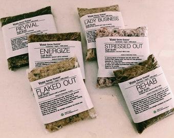 Bath Salt Spa Gift Set Collection – All-Natural, Vegan, Handmade Bath Soak - Mineral Rich Skin Hydration, Relaxation & Restful Sleep, Detox