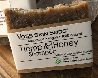 Shampoo Bar - Hemp - Honey - Zero Waste - Plastic Free - SLS Free - Frankincense Oil - Palm Free - Extra Bubbles - Eco Friendly - Elderberry