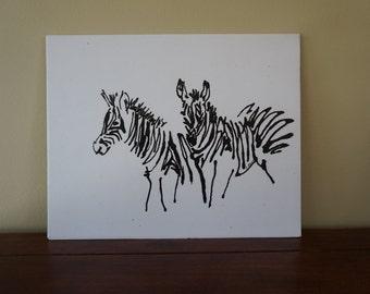 Abstract zebra art, baby zebra art,zebra nursery art, modern zebra art, modern nursery art, black and white nursery, zebra print,zebra decor