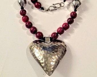 Collar corazón de sultana