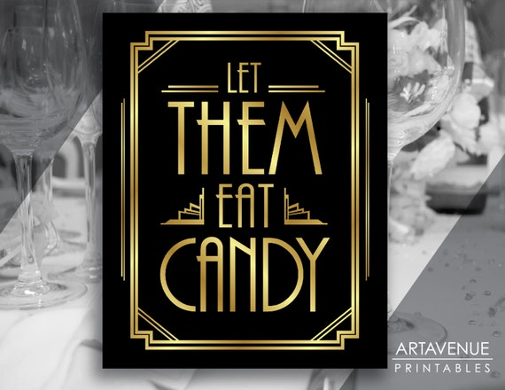 let them eat candy printable sign gatsby party candy party etsy rh etsy com