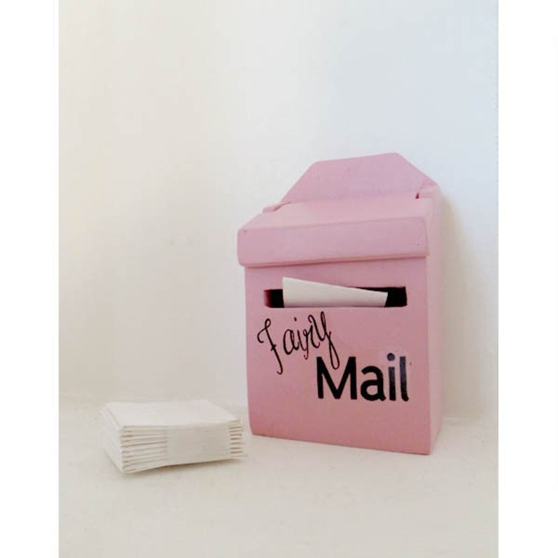 Little Fairy Mail box - a place for fairies to leave and receive mail-  fairy door accessory