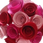 Valentines Day Flowers, Paper Flower Bouquet, Red and Pink Flowers, Valentines Day gifts for her