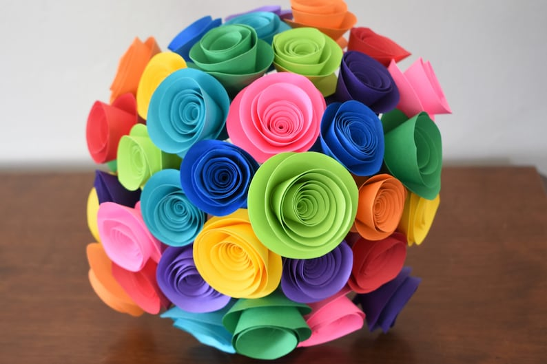 Colorful Wedding Bouquet Bright Summer Wedding Flowers image 0