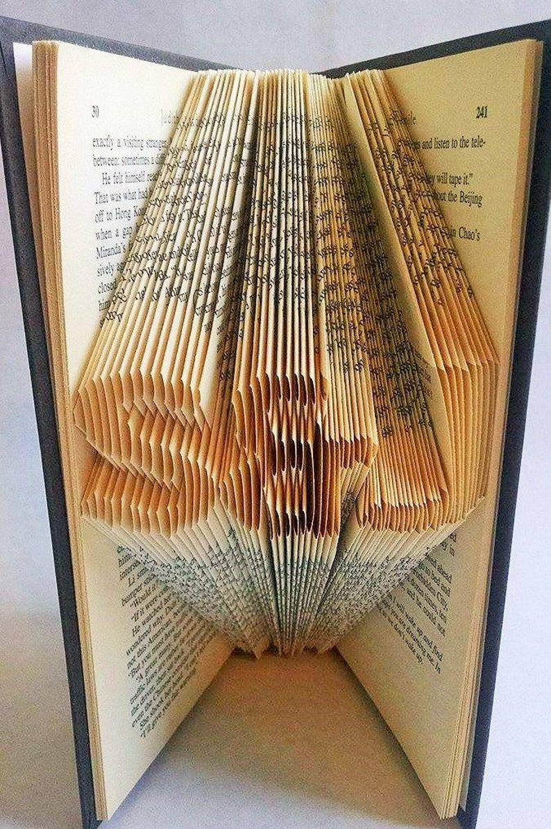 Meaningful Christmas Gifts for Him Custom Folded Book Art image 0