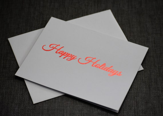 holiday cards christmas cards foil prints gold foil etsy