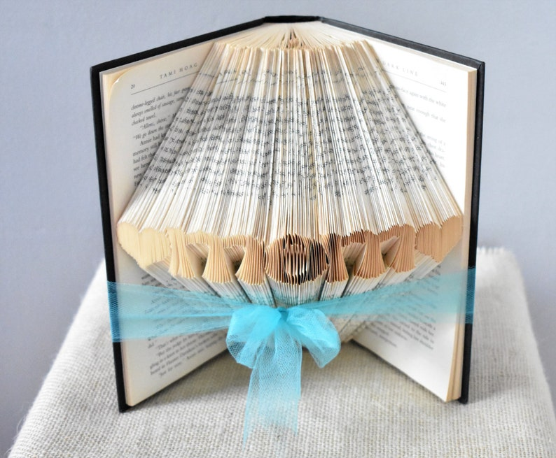 Gift Ideas for Mom  Folded Book Art Featuring the Word MOM image 1