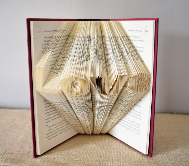 Literature Gift for the Book Lover Folded Book Art Featuring image 0