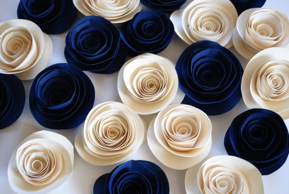 Navy Blue Wedding Wedding Flowers Navy Blue Wedding Decor | Etsy