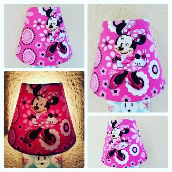 Night Light - Minnie Mouse Nursery Decor - Childrens Pink Room Wall Decor -  Minnie Mouse Bedroom Nightlight - Disney Nursery Decor
