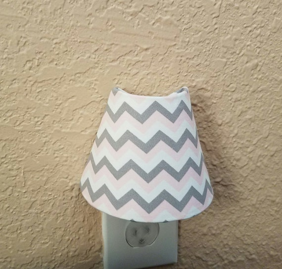 54fb6b0f8 NightLight Pink and gray chevron Nursery Decor Childrens | Etsy