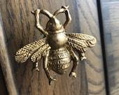 Bumble Bee draw pull cupboard door knob handle, upcycle, replacement, kitchen bathroom, craft, golden, gold, vintage, hive, queen bee, honey