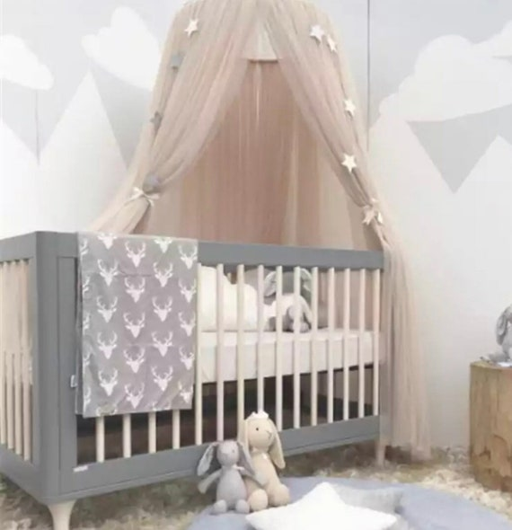 Kids Baby Hanging Cot Crib Canopy Nursery Bed Dome Net Etsy