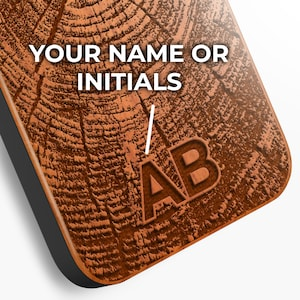 wooden Samsung S8 case Personalized Gift with custom initials iphone 7 case iphone X case Custom iPhone 8 case personalized gift